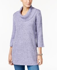 Karen Scott Marled Cowl Neck Tunic Sweater Only At Macy's Purple Bliss Marl