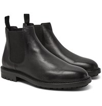 Dolce And Gabbana Full Grain Leather Chelsea Boots Black