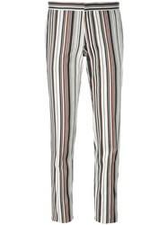 Giambattista Valli Striped Skinny Fit Trousers Black