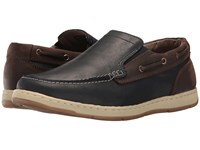 Nunn Bush Sloop Slip On Boat Shoe Navy Brown Men's Slip On Shoes