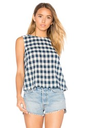 Current Elliott The Boxy Cropped Tank Blue