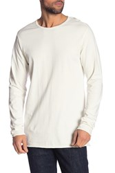 Hudson Jeans Elongated Long Sleeve Tee Dirty Whit