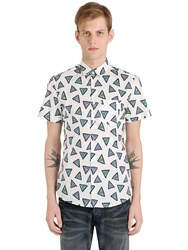 Kenzo Short Sleeve Triangle Cotton Shirt