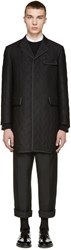 Thom Browne Black Whale Jacquard Evening Coat