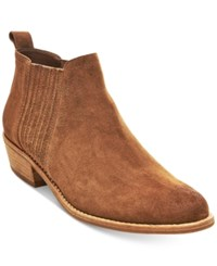 Steve Madden Women's Tallie Ankle Booties Women's Shoes Cognac Suede