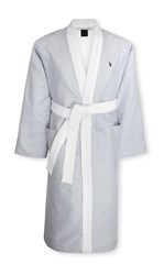 Ralph Lauren Home Oxford Bath Robe Light Blue