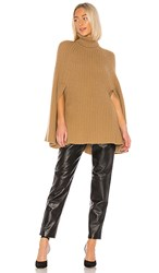 Madeleine Thompson Merryweather Poncho In Brown. Camel