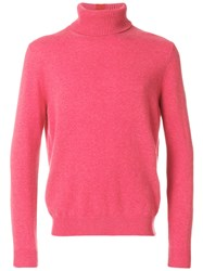 Paul Smith Turtle Neck Jumper Cashmere Xs Pink Purple
