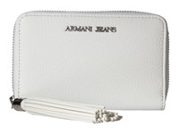 Armani Jeans Bifold Wallet With Tassle Detail White Wallet Handbags
