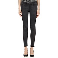 Rag And Bone Women's Leather The Skinny Jeans Dark Grey