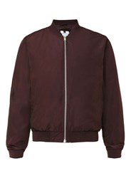 Topman Burgundy Lightweight Bomber Jacket Red