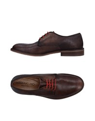 Hamaki Ho Lace Up Shoes Dark Brown