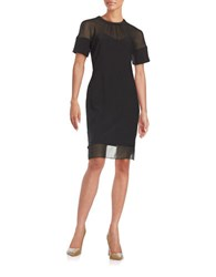 Anne Klein Illusion Sheath Dress Black