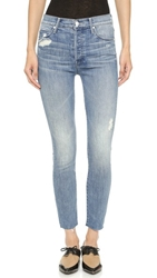 Mother Stunner Ankle Fray Jeans Graffiti Girl