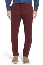 Brax 'Evans' Flat Front Chinos Red