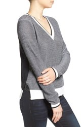 Rag And Bone 'Ainsley' V Neck Sweater Gray