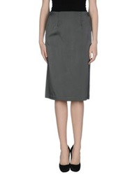 Oblique 3 4 Length Skirts Grey
