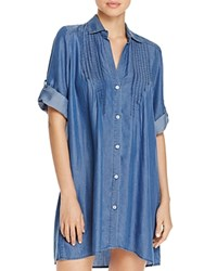Tommy Bahama Chambray Pintucked Tunic Swim Cover Up