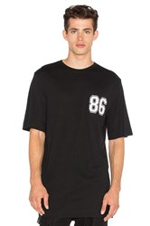 Helmut Lang Oversized Varsity Tee Black And White