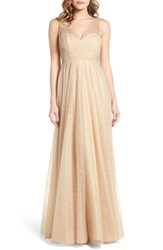 Jenny Yoo Women's Emelie Illusion Gown