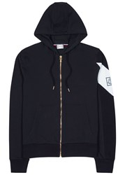 Moncler Gamme Bleu Navy Hooded Cotton Sweatshirt