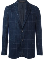 Eleventy Two Button Blazer Blue