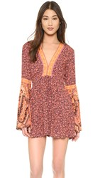 Free People One Upon A Summertime Romper Orange Combo