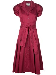 Alexis Rosetta Tie Waist Dress Red