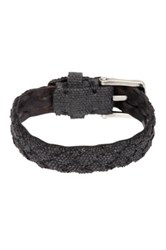 John Varvatos Braided Fabric Cuff Bracelet Black