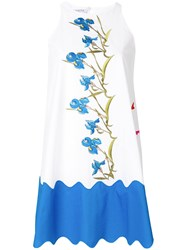 Vivetta Floral Embroided Loose Dress White