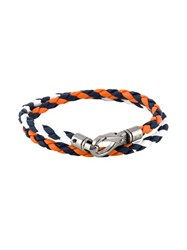 Tod's Braided Double Wrap Bracelet Multicolour