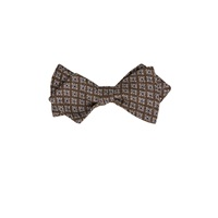 Thomas Mason Medallion Pattern Bow Tie Brown