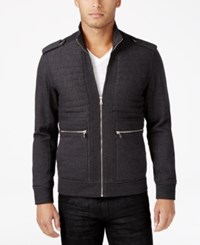 Inc International Concepts Men's Frederic Ribbed And Quilted Jacket Only At Macy's Heather Onyx