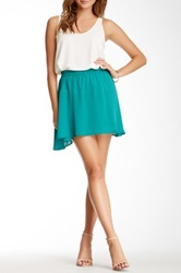 Donna Mizani Mini Circle Skirt Green