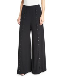 Haute Hippie The Snap Wide Leg Pants Black