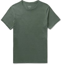 Save Khaki Supima Cotton Jersey T Shirt Green