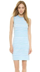 Marc By Marc Jacobs Sketch Stripe Sleeveless Tee Shirt Dress Robin Blue Multi