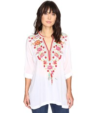 Johnny Was Blossom Blouse White Women's Blouse