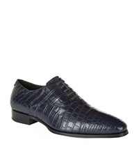 Stefano Ricci Crocodile Oxford Shoes Male Navy