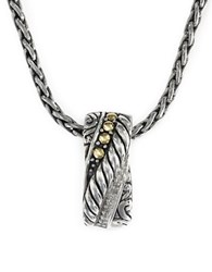 Effy Diamond And 18K Yellow Gold Plated Sterling Silver Pendant Necklace