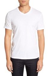 Men's Velvet By Graham And Spencer 'Samsen' V Neck T Shirt White