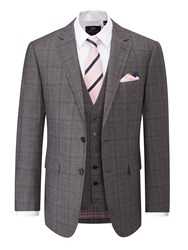 Skopes Men's Theodore Check Suit Jacket Grey