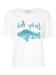Antonia Zander Fish Print T Shirt White