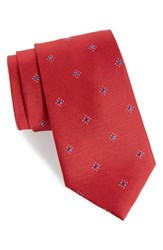 Calibrate Men's Six Point Medallion Silk Tie Red