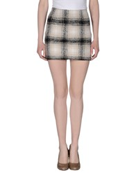Orion London Skirts Mini Skirts Women Beige