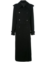 Acne Studios Button Up Trench Coat Black
