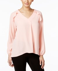 Ny Collection Ruffled Blouse Blossom Pink