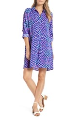 Lilly Pulitzer Lillith Shirtdress Royal Purple Toe In