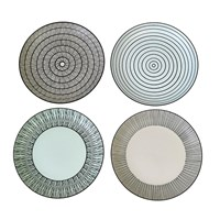 Pols Potten Afresh Pastel Plates Set Of 4 Small