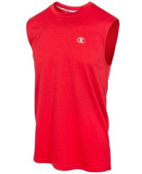 Champion Men's Vapor Heathered Tank Top Champion Scarlet
